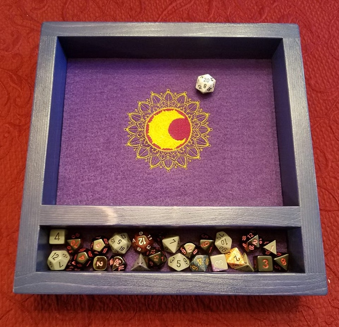The Legendary Dice Tray has a dice vault that holds a ton of dice!