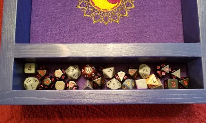 27 dice in the built in dice vault!