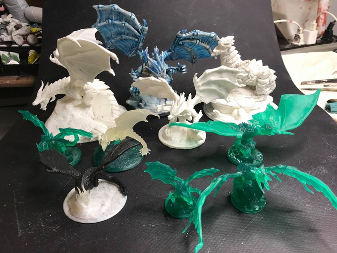 Finished and In-Progress Test Prints on both FDM & Resin of the Lost Dragons
