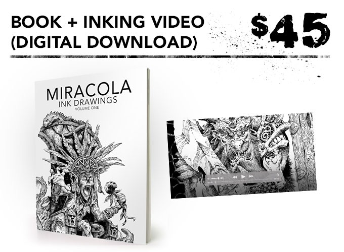 You get one signed art book + digital download of inking video + the free art print.