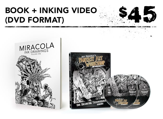 You get one signed art book + inking video in DVD and digital download formats + the free art print.