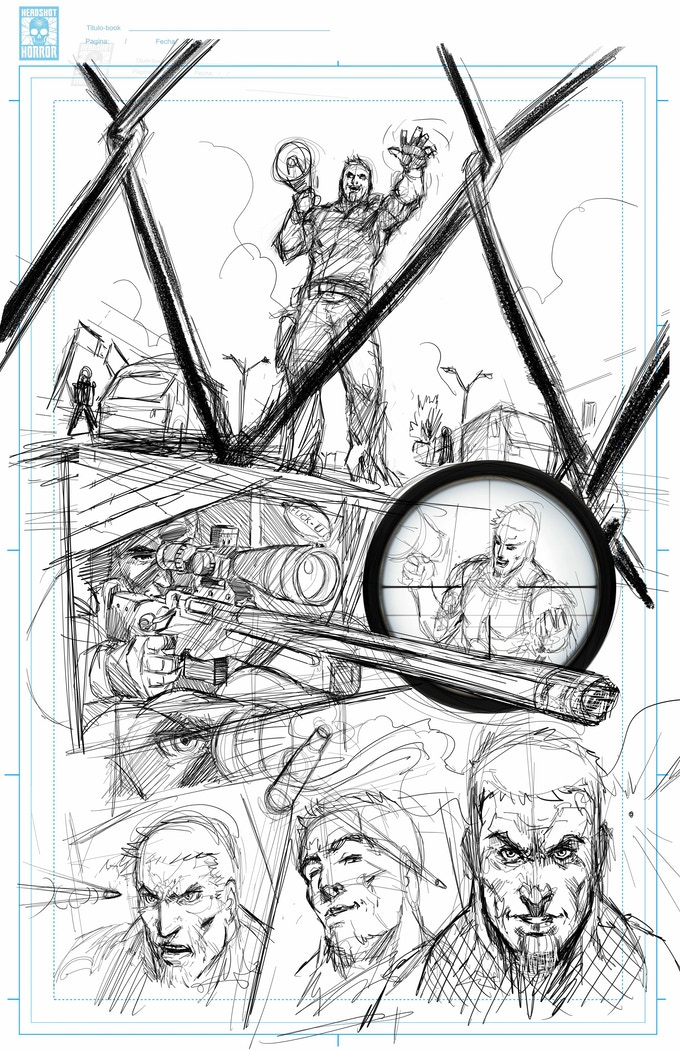 Penciled Page from UTF #4 (WIP)