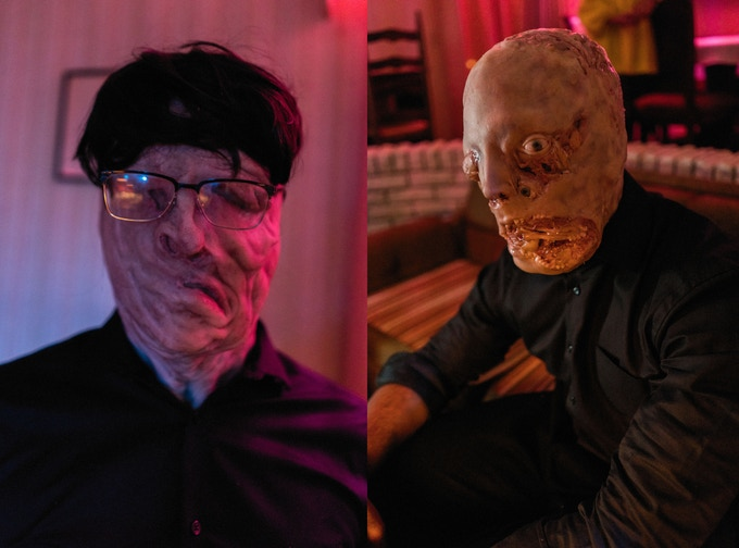 Two of ALASKA's many dream creatures - prior to any post VFX - custom created for our film by our SPFX Makeup Artist, Mo Meinhart (THE WALKING DEAD, NOSFERATU, MONSTER PARTY)