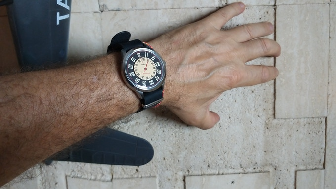 Veloce on our Leather Nato Band