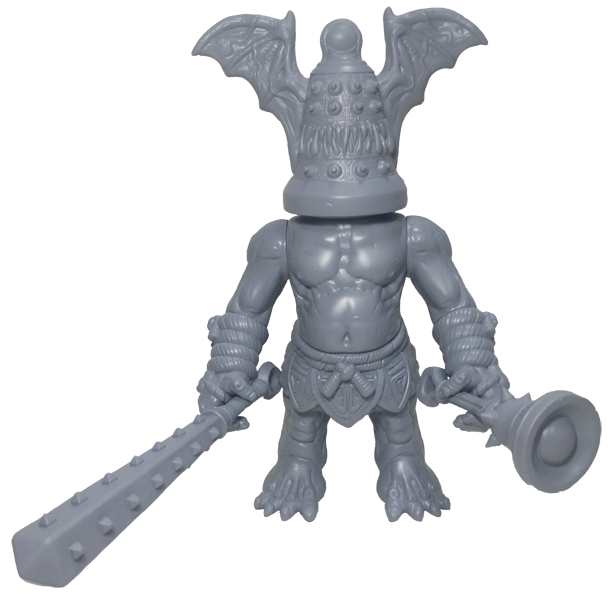 finished 3d print, complete with weapons