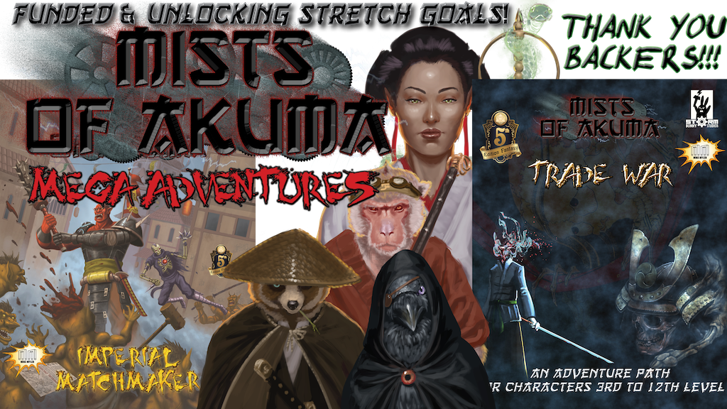 Eastern Fantasy Adventures for D&D 5e and SotDL (RPG) project video thumbnail