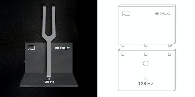 Tuning Fork Base render + Assembly Kit
