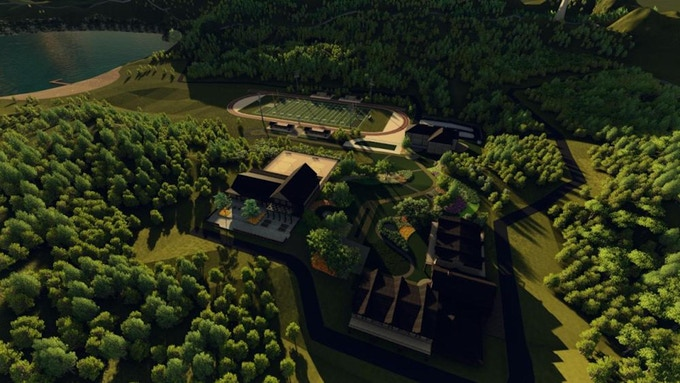 The setting of Band Camp Boyfriend was modeled in 3-D, with interconnecting locations.