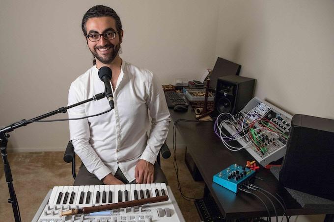 Khatchadour in the Studio (Photo Credit: Mark Ohanesian)