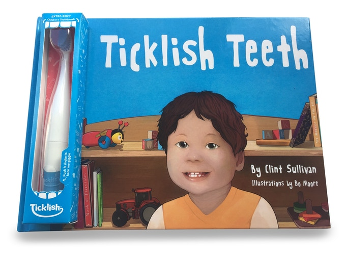 Ticklish Teeth - Giggling toothbrush and picture book