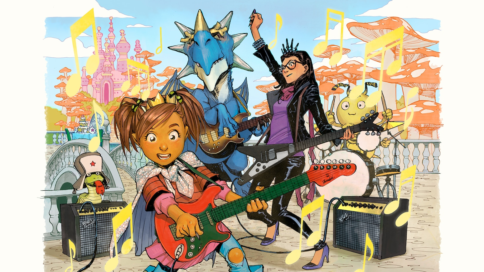 The sequel to the children's book THE PRINCESS WHO SAVED HERSELF, written by Greg Pak & Jonathan Coulton with art by Takeshi Miyazawa