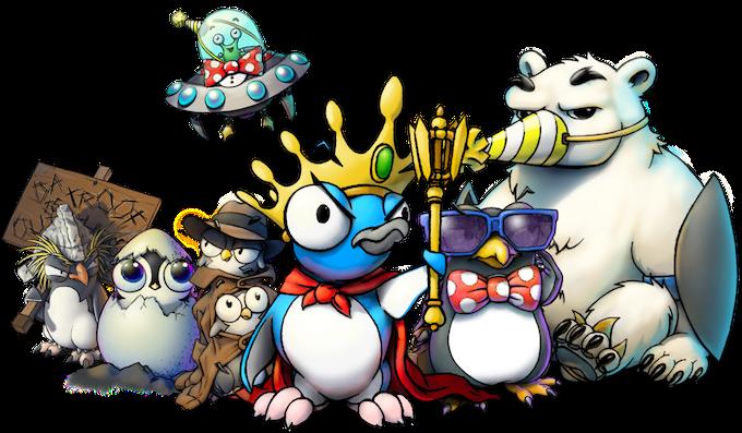 The penguins of Penguin SLAP!