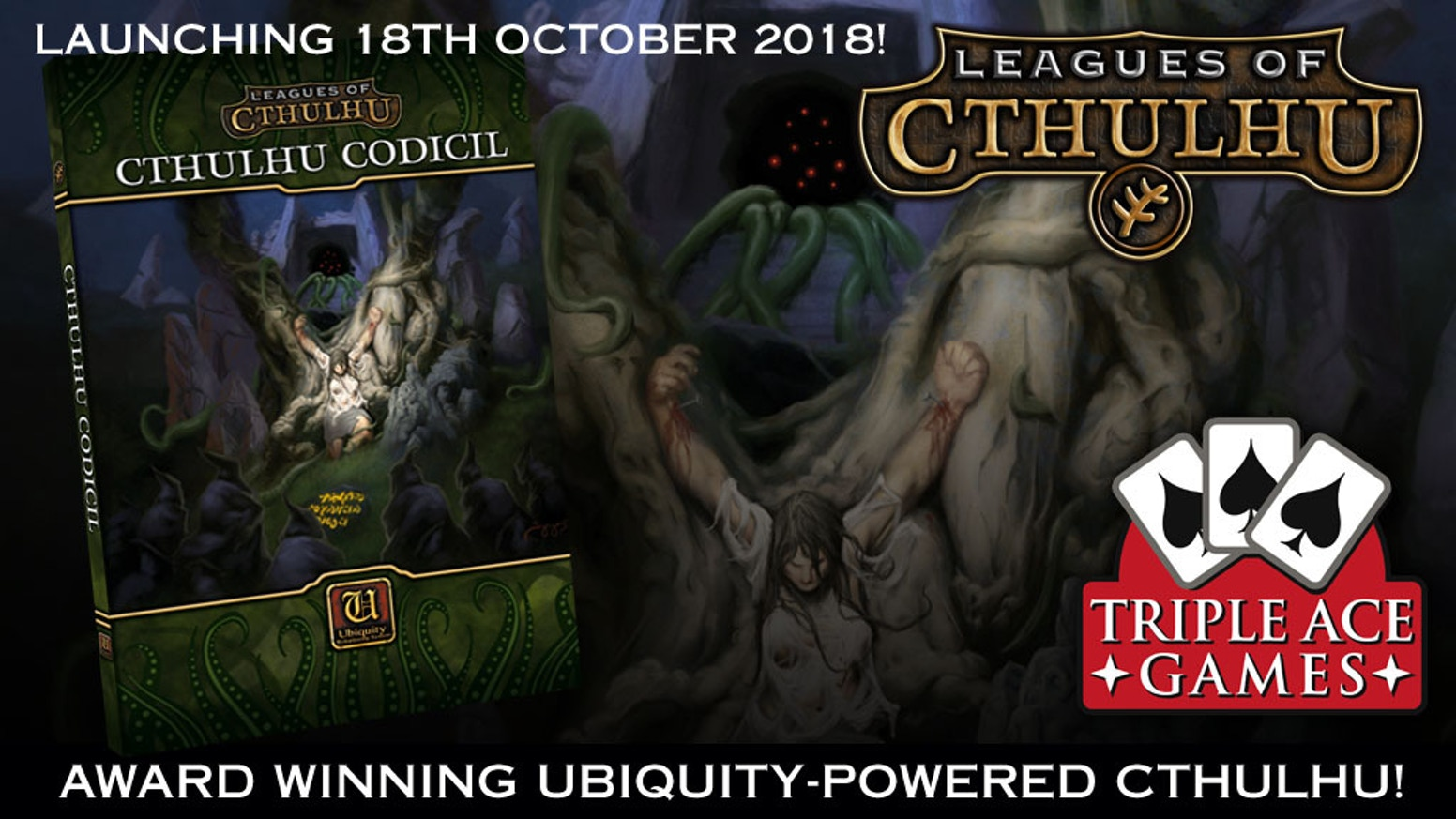More Mythos and madness from the producers of Leagues of Cthulhu, the Ubiquity-powered RPG of Victorian Lovecraft's Mythos.