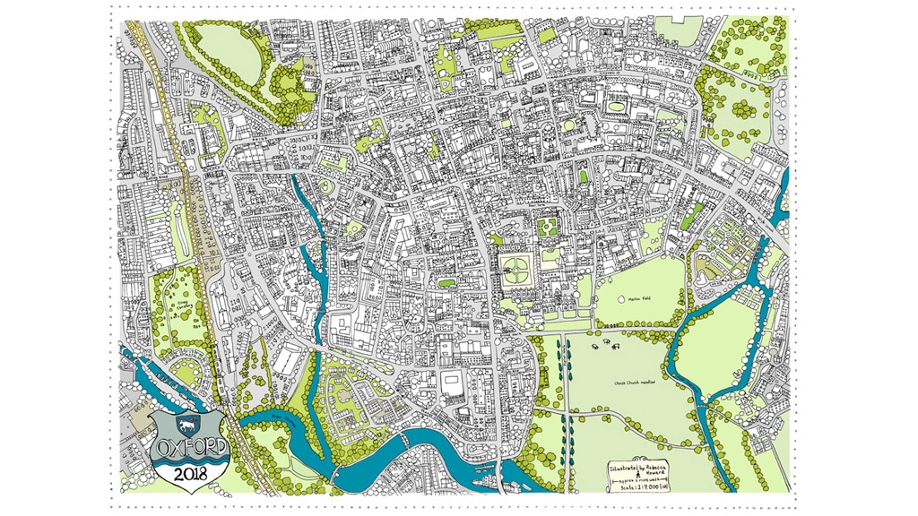 Limited edition Illustrated map of Oxford by Rebecca Howard project video thumbnail