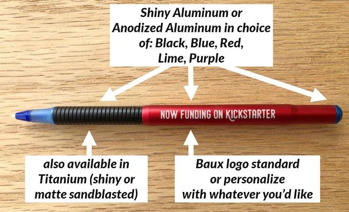 Lots of options to make a unique pen!