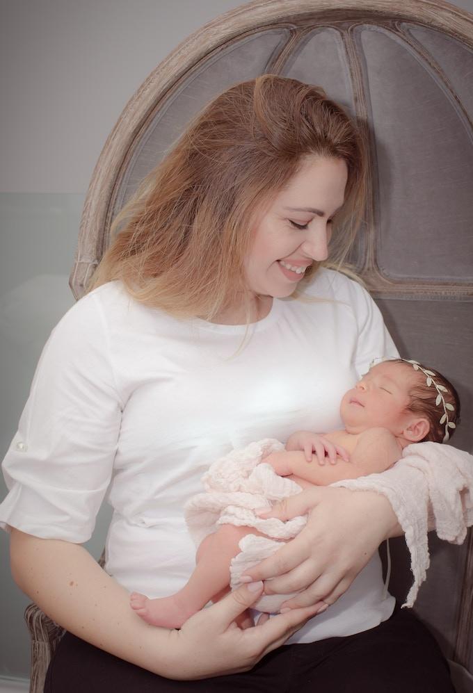 Siroun with Mila (Photo credit: Alina Aslanyan Photography)