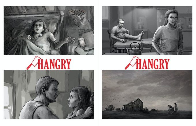"""""""Hangry"""" Storyboards"""