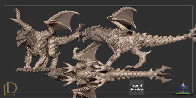 Spike Dragon Early Concept Render