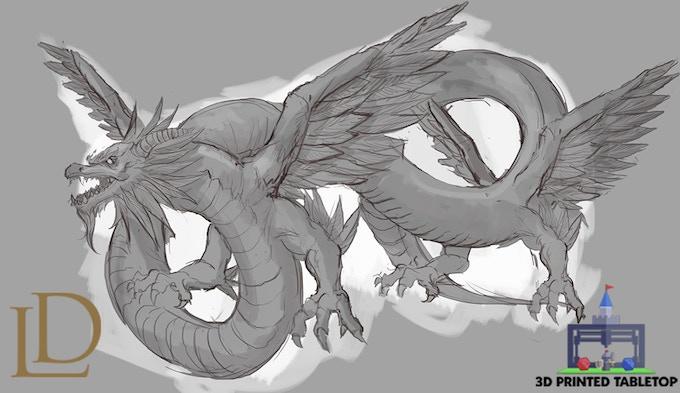 the lost dragons 3d printable fantasy dragons by danny herrero