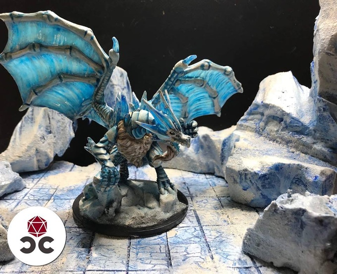 Father of Frost Printed & Painted by Dillon Olney (Critical Crafting)