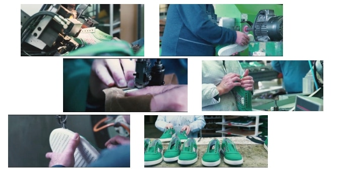 Production process in the Aragón (Spain) factory