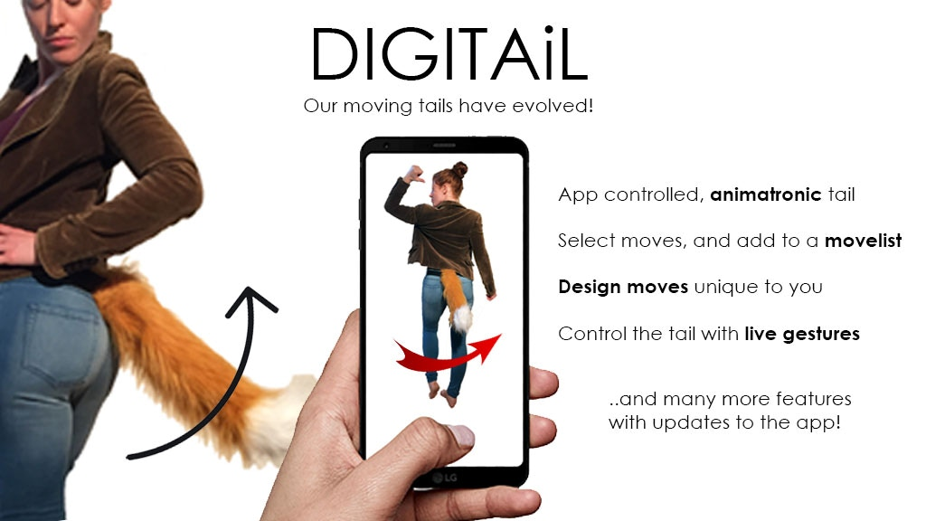 DIGITAiL - the animatronic, app controlled moving Tail!