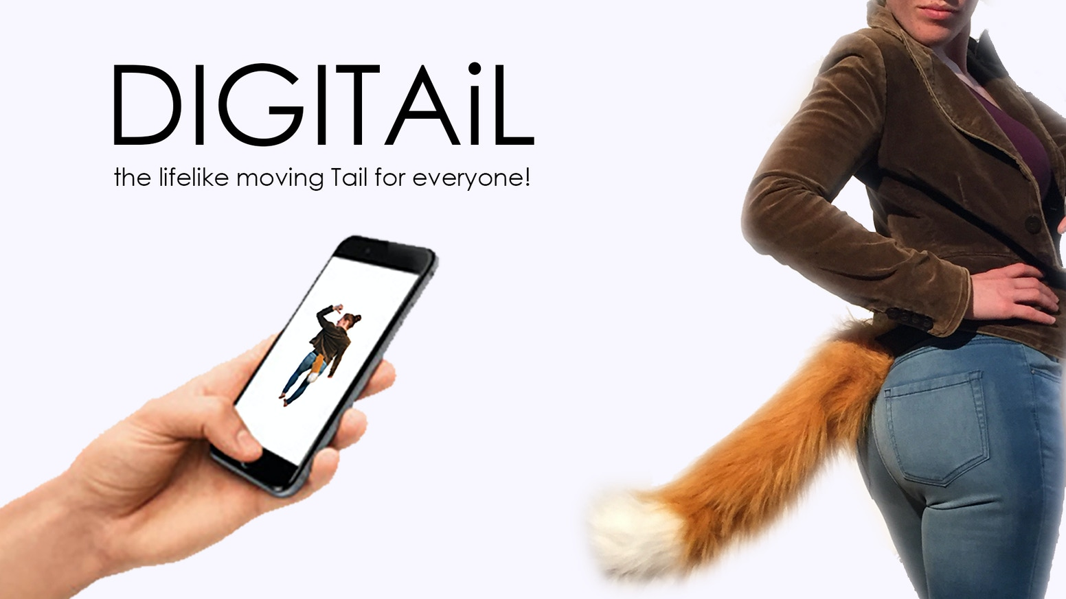 We make lifelike animatronic Tails. Introducing the DIGITAiL! App controlled, for Android and iPhone, customised for you for free!