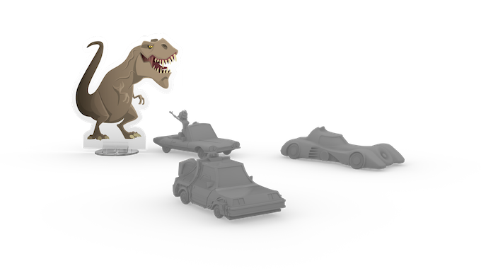 Honking on the Jurassic Land board will attract a ferocious T-Rex which will attack the closest vehicle!