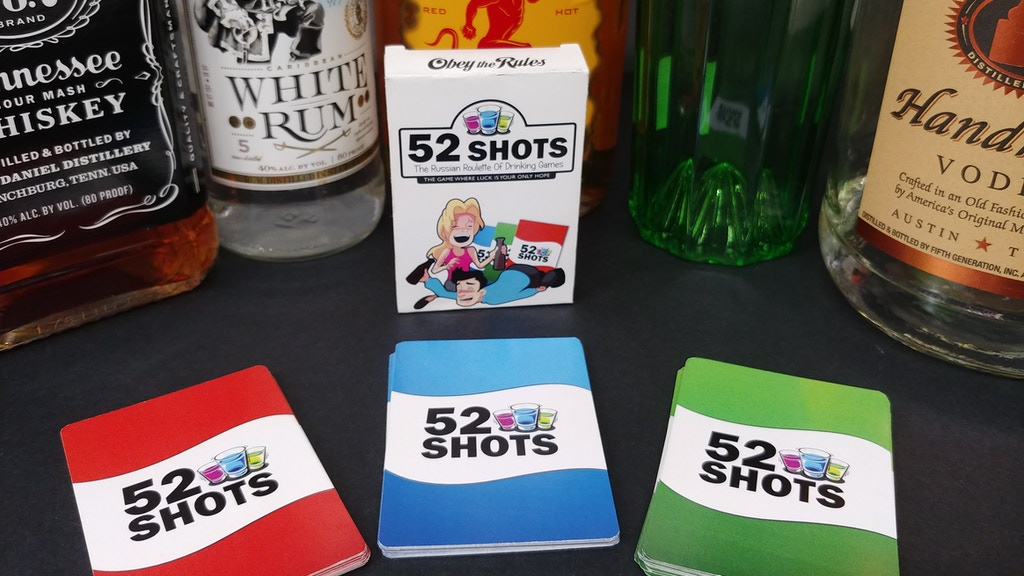 Project image for 52 Shots Game: The Russian Roulette of Drinking Games.