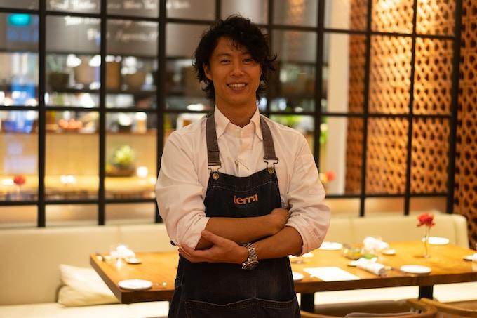 Seita, owner & chef, terra Tokyo Italian