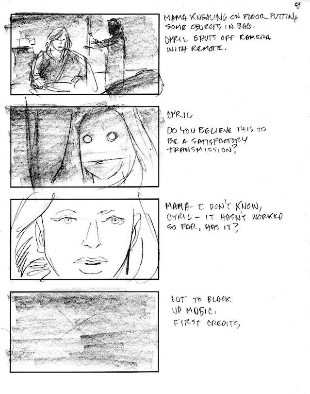 'Minding Mama' storyboard sample by Dan Schaefer
