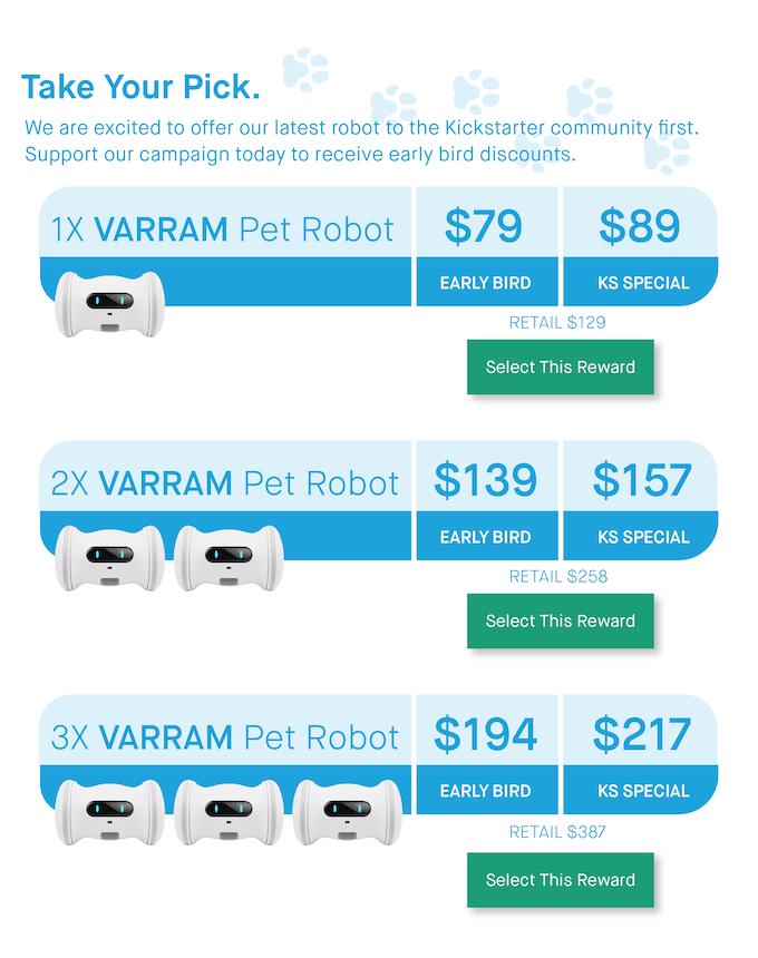 A Smart Robot For Your Pet - VARRAM by VARRAM — Kickstarter