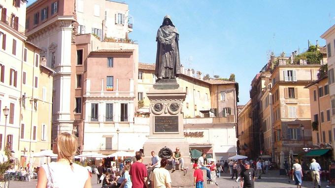 Statue of Giordano Bruno in Campo de Fiori, Rome, by Ettore Ferrari (1889)