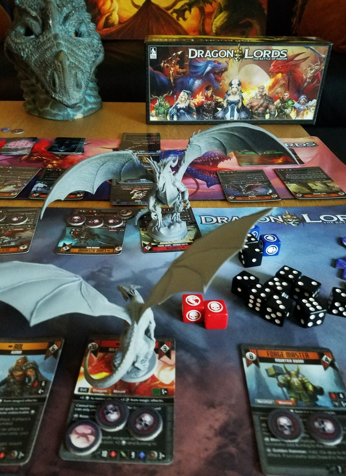 Dragon Lords Dice, Minis and Player Mats