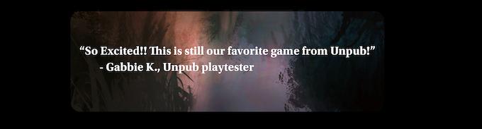 Playtester feedback