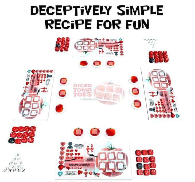 Diced Tomatoes 4-player setup