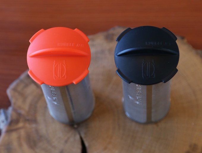 your choice of cap + base color: Orangey-Red and Dark Black