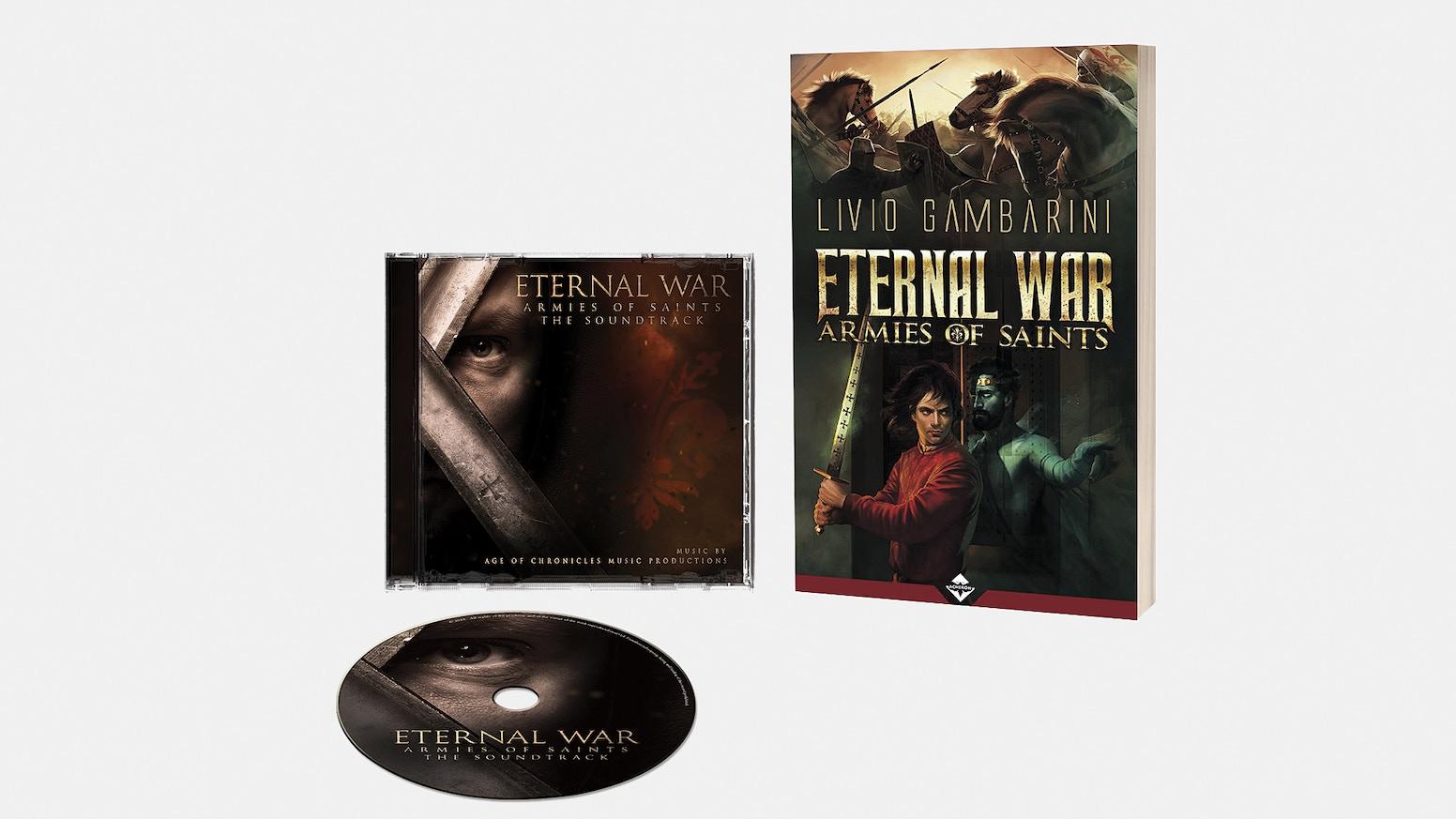 """Album della Colonna Sonora Originale ispirata al romanzo """"Eternal War"""" dello scrittore Livio Gambarini."""