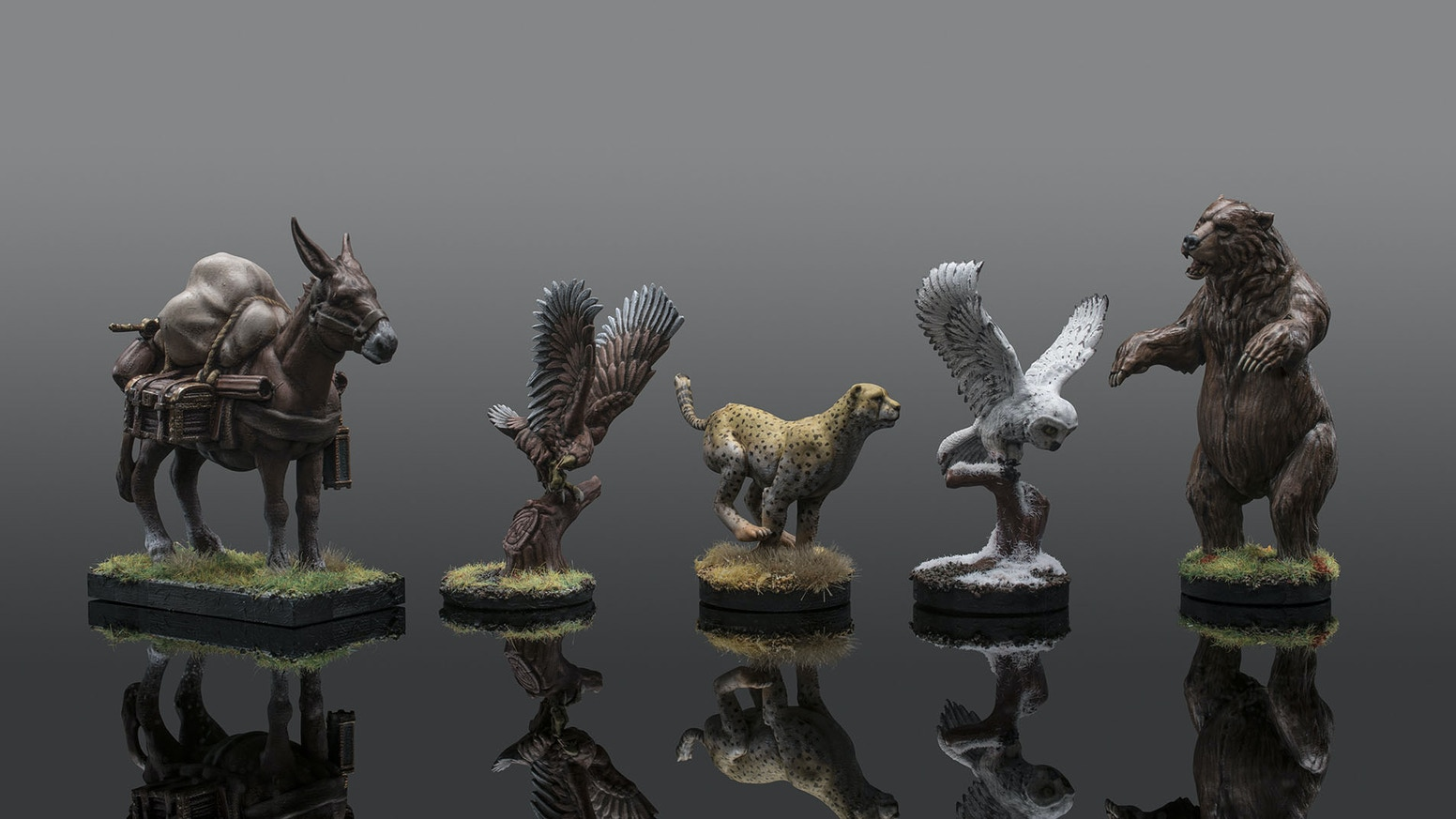 Animal Companion Miniatures for game play in both Dungeons & Dragons 5e and Pathfinder.