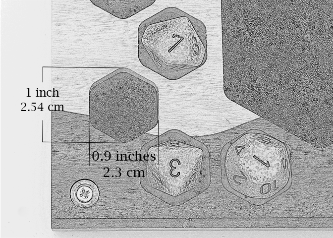 Dice Chamber dimensions