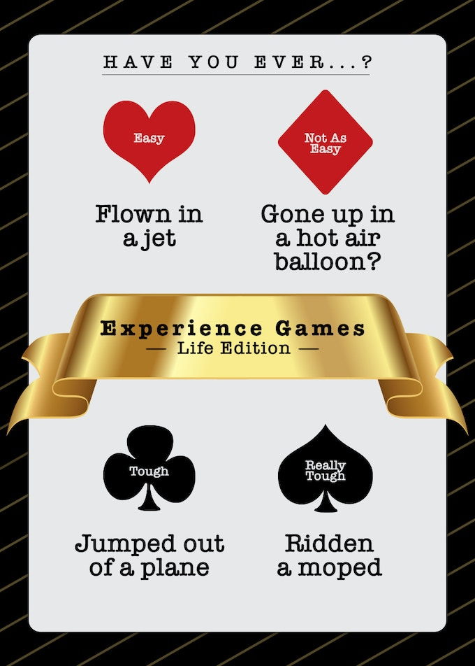Experience Game Card Sample