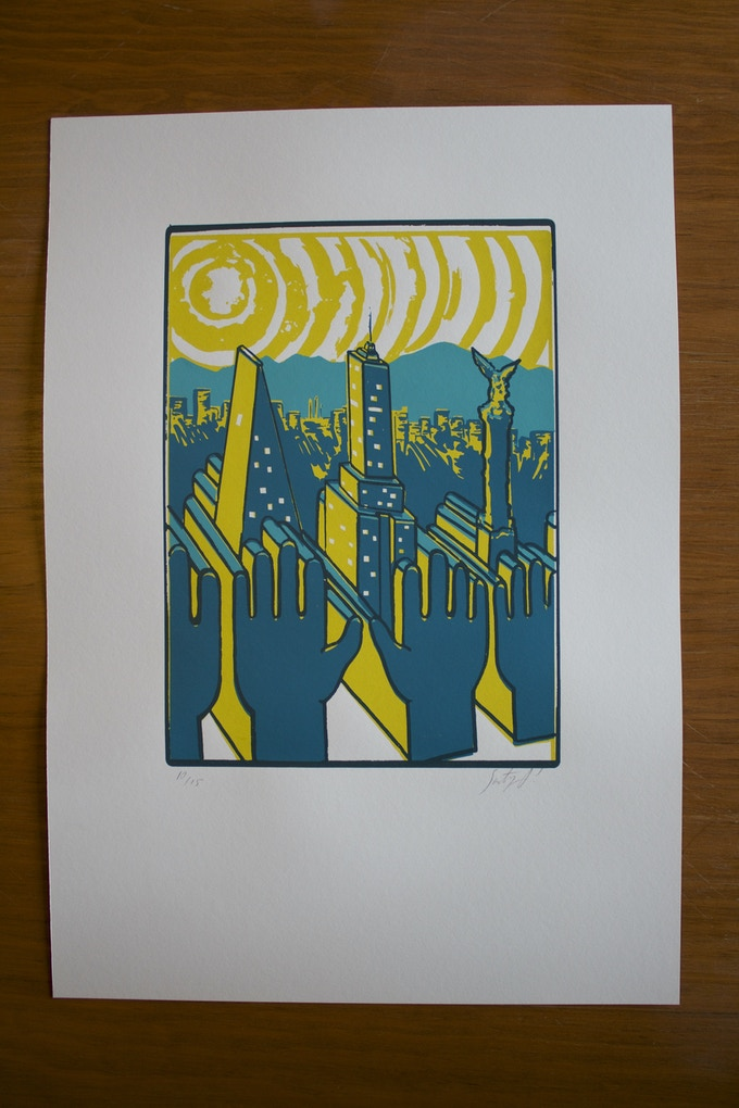 3 color Limited Edition Screen Print