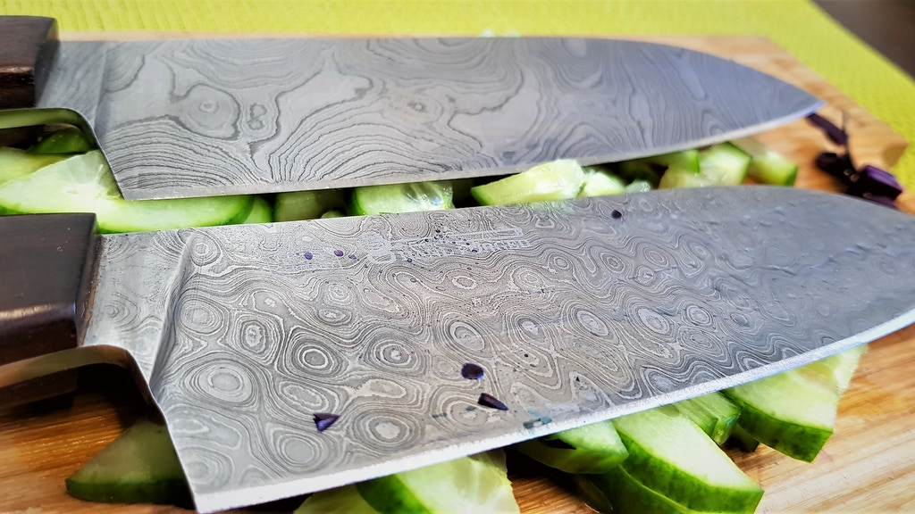 Praetorian damascus knife I 440 layers of real forged steel