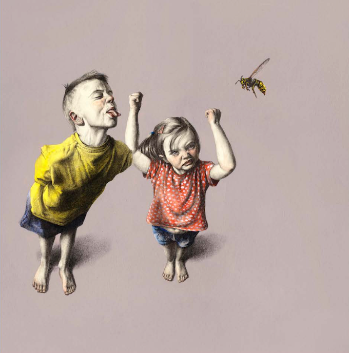 """KIRSTY WHITEN """"HOW TO ESCAPE FROM A WASP #3"""" (ORIGINAL)"""