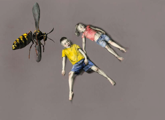 """KIRSTY WHITEN """"HOW TO ESCAPE FROM A WASP #4"""" (ORIGINAL)"""