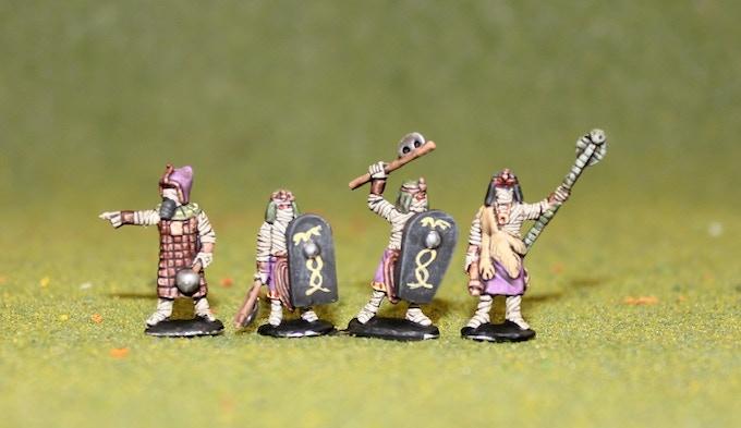 Mummy King, Lich and Guard