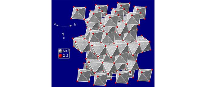 Crystal structure of corundum