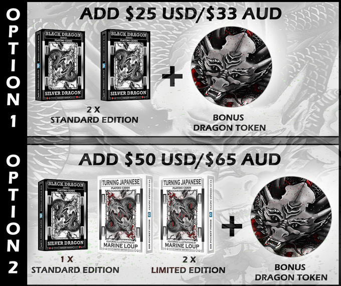 Each backer is limited to a maximum add on amount of up to 2 x Option A and/or Option B