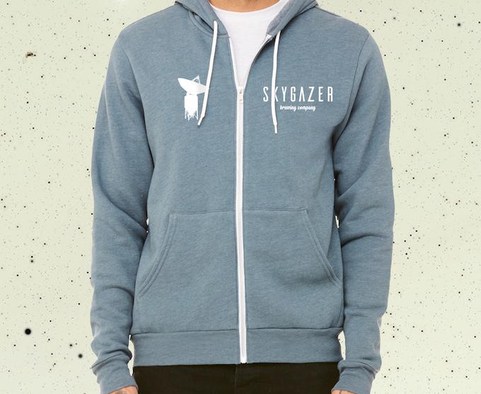 Reward #10 - Others prefer Zip Ups. Fermentallite Design (Color - Heather Slate) - (No Design on Back)