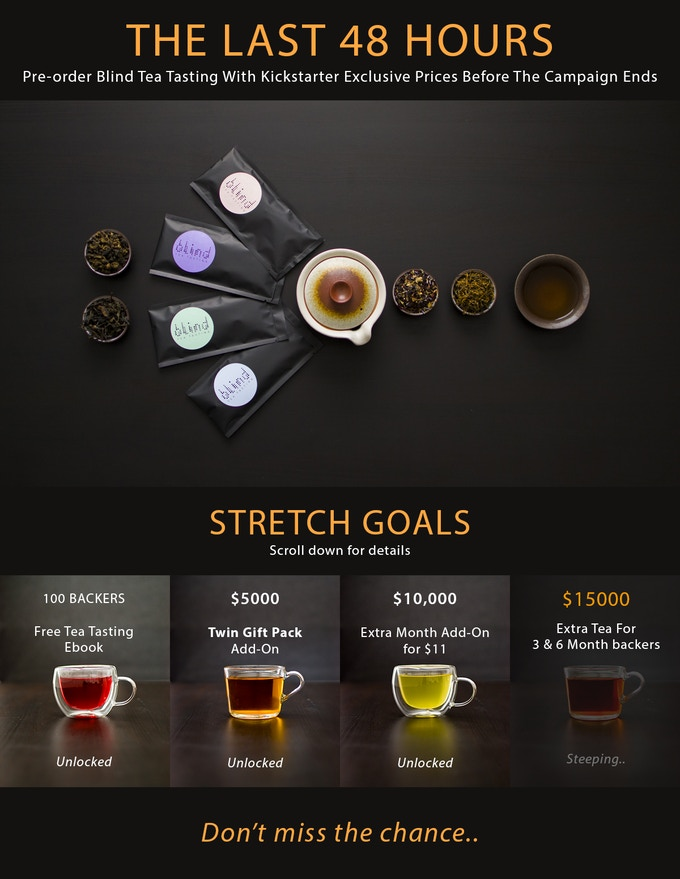 Three upgrades unlocked. Pre-order now and get your Blind Tea Tasting pack before time runs out.